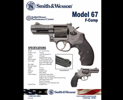SMITH & WESSON 67F-COMP 3'' 357 MAGNUM 6 COUPS