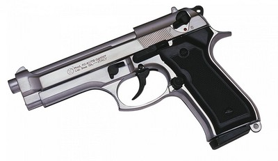 BERETTA 92 Nickelé 9MM BLANC