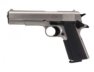 COLT GOVERNMENT 1911 A1 Nickelé 9MM BLANC