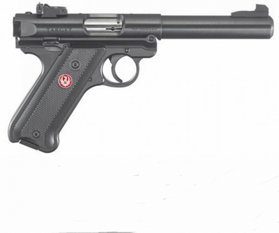 RUGER MARK IV BLUE 22LR 10 COUPS