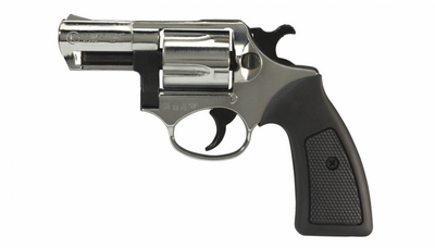 COMPETITIVE Nickelé Revolver 9MM BLANC